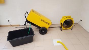 Turbo Trocknung nach Wasserschaden - BWS-Bautrocknung DF56